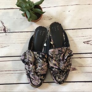 {a new day} Knotted Upholstery Mules NWOT